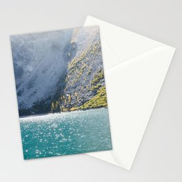 Sparkling Blue Water Alpine Lake Stationery Cards