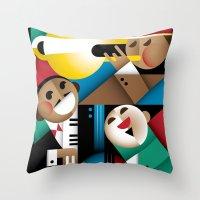 jazz Throw Pillows featuring Jazz by Szoki