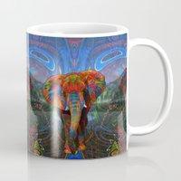 elephant Mugs featuring Elephant by Waelad Akadan