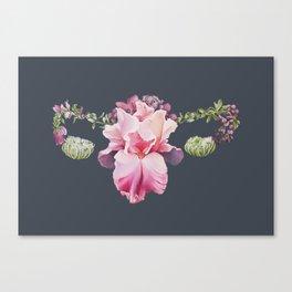 Floral Uterus Canvas Print