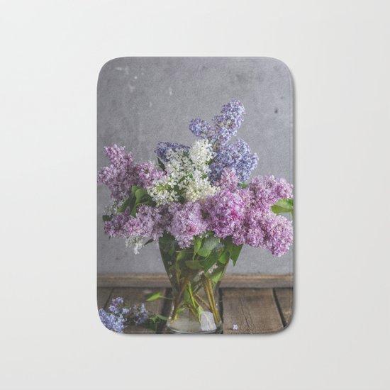 lilac bouquet Bath Mat