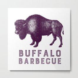 Buffalo Barbecue Metal Print