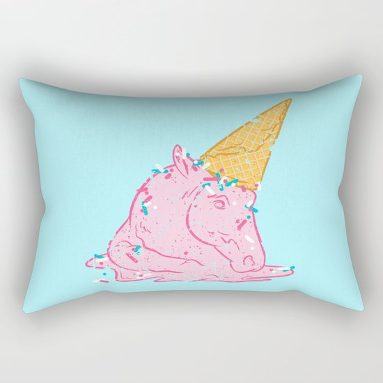 Unicorn melts Rectangular Pillow