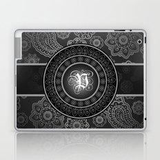 Monogrammed Aridi P Black and White Laptop & iPad Skin
