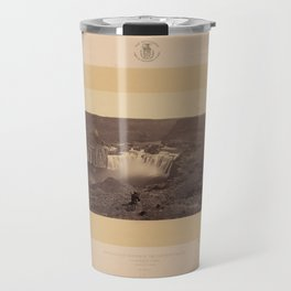 Geological Exploration of the Fortieth Parallel (1869) - Shoshone Falls, Idaho Travel Mug