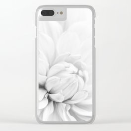 Simply White Dahlia Clear iPhone Case