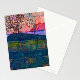 Egon Schiele Setting Sun Stationery Cards
