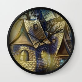 Fairy-tale city Wall Clock