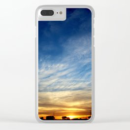 Sunset 040717 Caps, Texas Clear iPhone Case