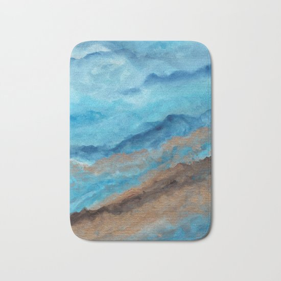 Watercolor abstract landscape 20 Bath Mat
