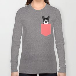 Kennedy - Boston Terrier cute dog themed gifts for small dog owners and Boston Terrier gifts  Long Sleeve T-shirt