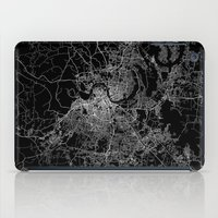 nashville iPad Cases featuring nashville map by Line Line Lines