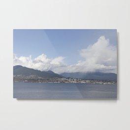 Vancouver Harbour north shore mist Metal Print