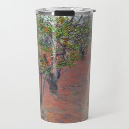 """Gustave Caillebotte """"Orchard, flowering trees, Petit Gennevilliers"""" Travel Mug"""