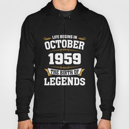 October 1959 59 the birth of Legends Hoody