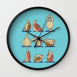 Green Sea Turtle  Yoga Wall Clock