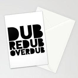 Dub Redub Overdub (Black) Stationery Cards