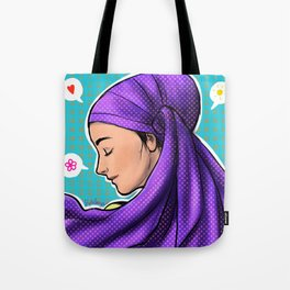 Purple Wrap Tote Bag