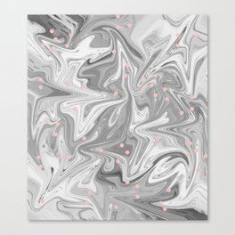 Charcoal Mask & Pimple Pink Canvas Print