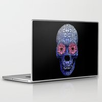 crossfit Laptop & iPad Skins featuring Skull Art - Day Of The Dead 1 Stone Rock'd by Sharon Cummings