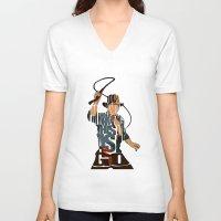 indie V-neck T-shirts featuring Indie by Ayse Deniz