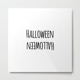 Halloween Mirrored Cute Holiday Design Metal Print