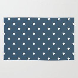Dusky Blue Small Polka Dots Rug
