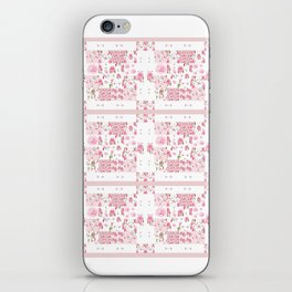 Shabby Chic Dream Catcher and feather Patchwork iPhone Skin