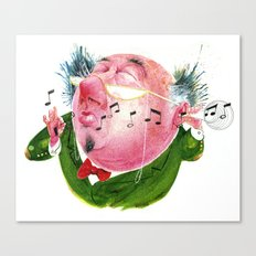 The Music Critic Canvas Print
