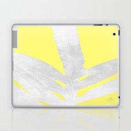 Green Fern on Lemon Yellow Inverted Laptop & iPad Skin
