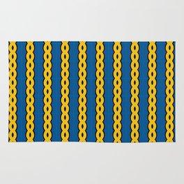 Gold Chain Curtain Rug