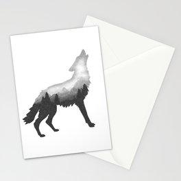 Double Exposure Wild Bear Stipple Art Animal Wildlife Wilderness Stationery Cards