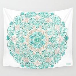 SO SHELLULAR Mint + Rose Gold Shell Mandala Wall Tapestry