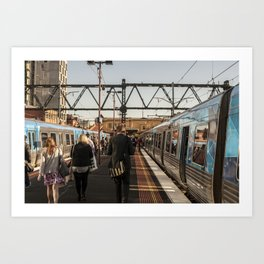 Going home. (South Yarra Station, 2013) Art Print