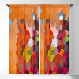 Pixelated Lanterns in Joy and Orange Blackout Curtain
