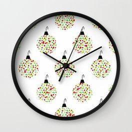 Deck the Tree Wall Clock