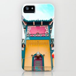 Travel photography Chinatown Los Angeles V temple front iPhone Case