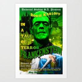 Frankenstein Movie Boris Karloff Art Print