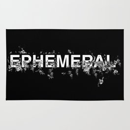 "Word ""Ephemeral"" in a minimal design Rug"