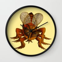 bee Wall Clocks featuring bee by giol's