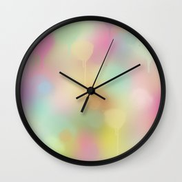 Soft pastel watercolour abstract Wall Clock