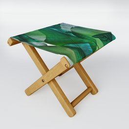 Palm leaf jungle Bali banana palm frond greens Folding Stool