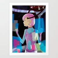 sci fi Art Prints featuring Sci-Fi by Scotty6000