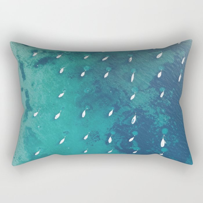Boats on the Ocean Rectangular Pillow