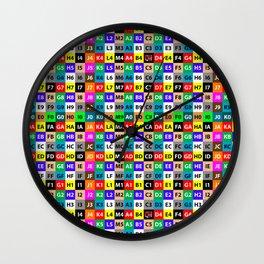 S6 Test Grid Wall Clock