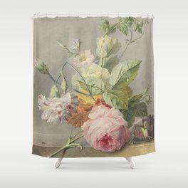 Georgius Jacobus Johannes van Os - Flower arrangement - 1800/1825 Shower Curtain