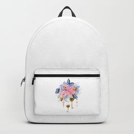 Pink Roses with Keys Backpack