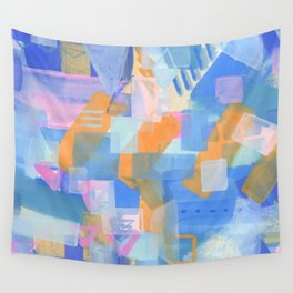 Geometric abstract in pastel Wall Tapestry