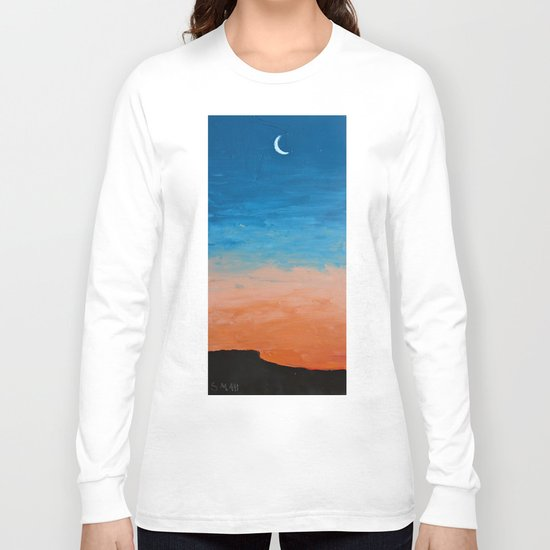 Pre-Dawn Moonrise, painting Long Sleeve T-shirt