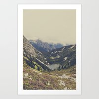 heaven Art Prints featuring Mountain Flowers by Kurt Rahn